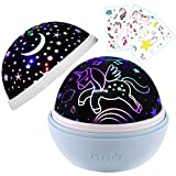 Blue Unicorn Gifts,Night Light for Unicorn Galaxy Bedroom,Birthday Gift for Girls Age 1-12,Unicorn...