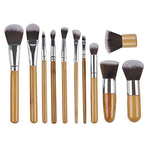 Makeup Brushes 11 PCs Professional Eye Makeup Brush Set Premium Synthetic Foundation Brush Cosmetic Brushes Powder Blush Eye Shadows Make Up Brushes ()