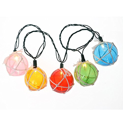 5m/16.4ft 20 Led Nautical Fishing Floats Coastal Buoy Beach Style Fish Net Buoy Ball Decorative String Light for Indoor Outdoor Home Garden Patio Lawn Bedroom Wedding Christmas Party Birthday Plug in