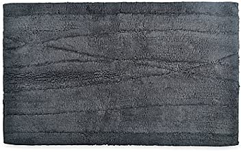 DKNY Wavelength 21-Inch x 34-Inch Bath Rug in Charcoal, 100%