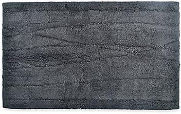 DKNY Wavelength 21-Inch x 34-Inch Bath Rug in Charcoal, 100%