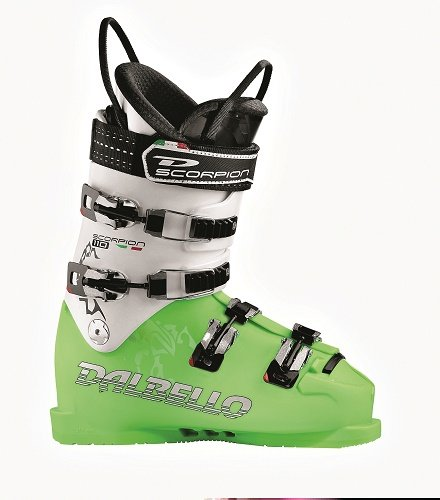 (2013 Dalbello Scorpion SR 110 Mens Race Ski Boots Size 7 (UK) Lime White)