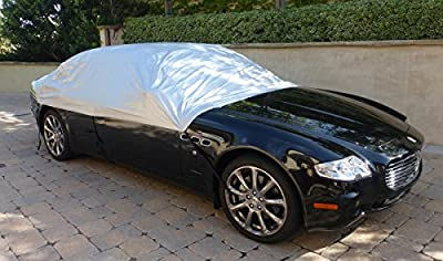 Car snow cover and windshield sun shade full top cover fits full to large size car