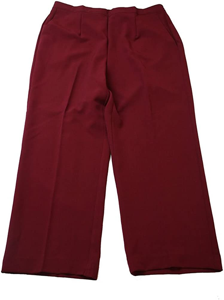 Alfred Dunner Womens Stretch Solid Dress Pants