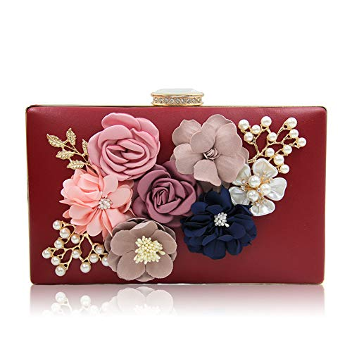 Wine Handbag Party Women's SUNROLAN Flower Purse Wedding Bag Evening Clutch vWXzIqz