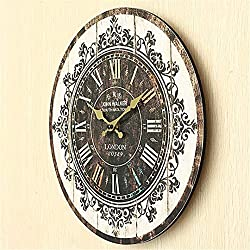 Vintage Tracery Shabby Retro Kitchen Home Office Decoration Wooden Wall Clock Ornament Craft For Gift