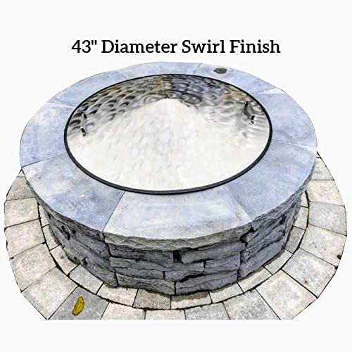 43 Diameter Stainless Steel Fire Pit Cover Swirl Finish
