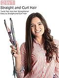 LANDOT Hair Straightener and Curler 2 in 1, Twist