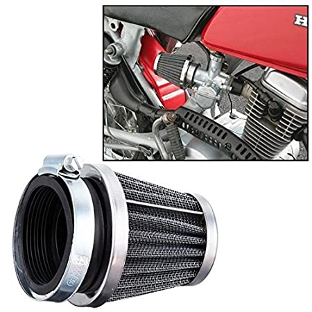 Baynne Universal35/39/42/44/48/50/52/54/60mm Motorcycle Mushroom Head Air Filter(Color Black and Silver)(Size:60MM)