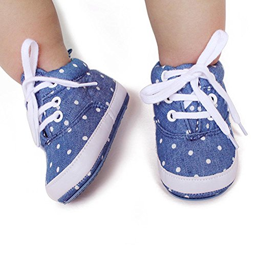 Itaar Primeros Pasos Sneaker Zapatos para Bebé Diseño de Punteado