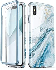 i-Blason Cosmo Full-Body Case for iPhone Xs/ iPhone X Case 2018 Release, Blue, 5.8&