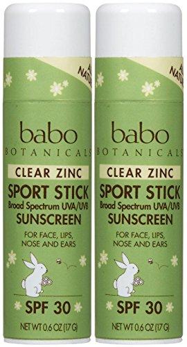 Babo Botanicals Clear Zinc Sport Stick Sunscreen - SPF 30 - Fresh Apple - 0.6 oz - 2 pk