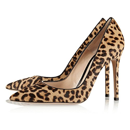 Stiletto Toe On Pointed Work Heels High Or Womens 12cm Leopard Leather 120mm Pumps Court Slip Suede Patent Ubeauty Shoes Heel fzq0Ivw