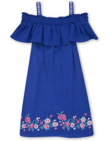 180b7be2 Speechless Girls' Big 7-16 Off The Shoulder Dress with Embroidery