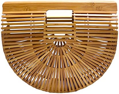 Miuco Womens Bamboo Handbag Handmade product image