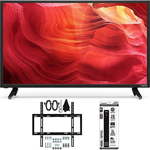 Vizio E32h-D1 - 32-Inch SmartCast E-Series LED 720p HDTV Slim Flat Wall Mount Bundle includes TV, Slim Flat Wall Mount Ultimate Kit and 6 Outlet Power Strip with Dual USB Ports