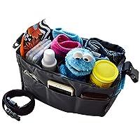 Diaper Bag Insert Organizer for Stylish Moms, Dark Grey, 12 pockets, Turn You...