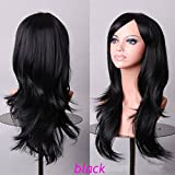 Anime Cosplay Synthetic Wig 11 Colors Japanese Kanekalon Heat Resistant Fiber Full Wig with Bangs Long