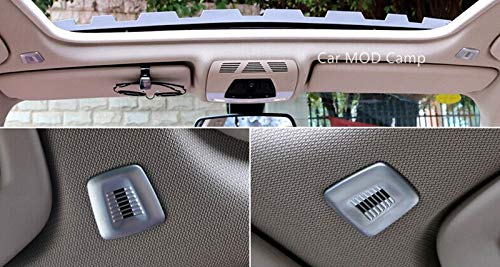 For BMW 1 Series F20 2012-2017 / BMW 2 Series Coupe F22 2014-2017 ABS Matte Interior Microphone Decoration Cover Trim 2pcs
