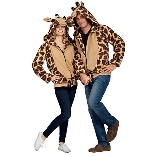 RG Costumes Unisex RG Georgie The Giraffe Hoodie Adult Large, Beige Print, Small 32-34 -