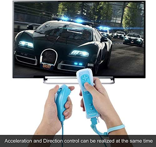 CooleedTEK Wii Remote Controller, Remote Plus Controller and Nunchuk Controller for Nintendo Wii and Wii U, with Silicon Case (Blue) 11