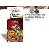 VALOR SUGAR & GLUTEN FREE Dark Chocolate 52% with WHOLE ALMONDS - 150gr / 5.29