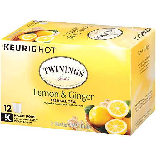 Twinings of London Lemon & Ginger Herbal Tea K-Cups for Keurig, 12 Count (Pack of 6) by Twinings (Image #5)