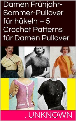 Amazoncom Damen Frühjahr Sommer Pullover Für Häkeln 5 Crochet
