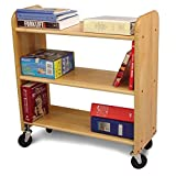 Scranton & Co Library Book Truck in Natural Birch