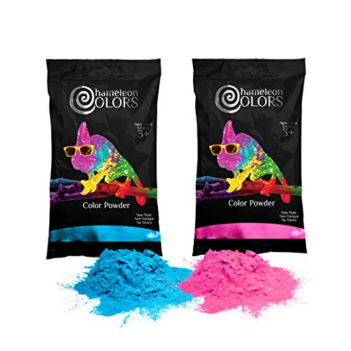 Chameleon Colors Gender Reveal Powder, Blue and Pink Color Powder, 2 Pounds (1 Pound per Bag), Pack of 2