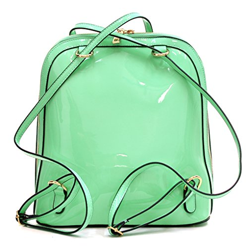 Faux Leather Trendy Dasein Mint Classic Green Backpack amp; 4IwIctyqH