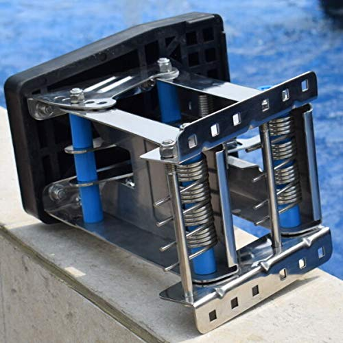 (FidgetKute New 2-Stroke Stainless Steel Outboard Auxiliary Motor Bracket Up to 20hp Useful)