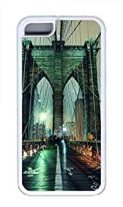 iPhone 4 4s Case, iPhone 4 4s Cases -Brooklyn Bridge TPU Silicone Rubber Case Cover for iPhone 4 4s White