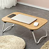 PM Folding tables Tables Folding Laptop Desk Table Stand, Computer Laptop Stand,Foldable Breakfast Tray,Study Desk,Lazy Table Bed Desk,Portable Folding (Color : D-583827)