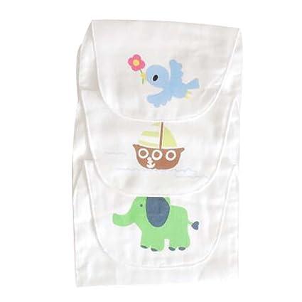 Toallas de gasa de algodón suave sudor bebé toallas absorbentes conjunto de 3 alfombra de washcloth