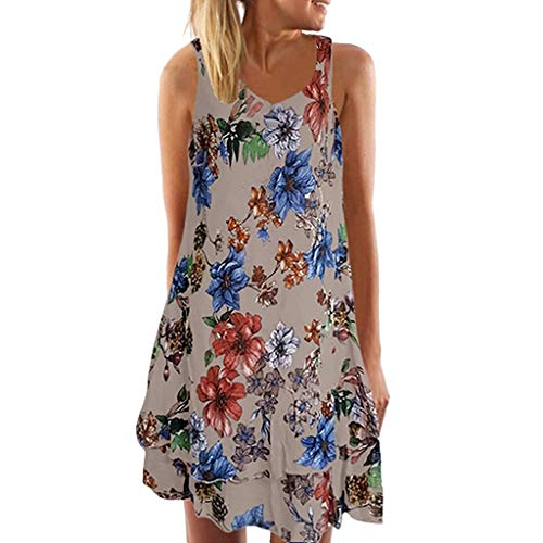 Used, TUSANG Women Summer V Neck Sleeveless Boho Dress Printed for sale  Delivered anywhere in USA