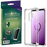 Kit Pelicula Curves Pro + Capa transparente TPU para Samsung Galaxy S9 Plus, HPrime, Película Protetora de Tela para Celular, Transparente