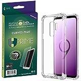 Kit Pelicula Curves Pro + Capa transparente TPU para Samsung Galaxy S9 Plus, HPrime, Película Protetora de Tela para Celular,