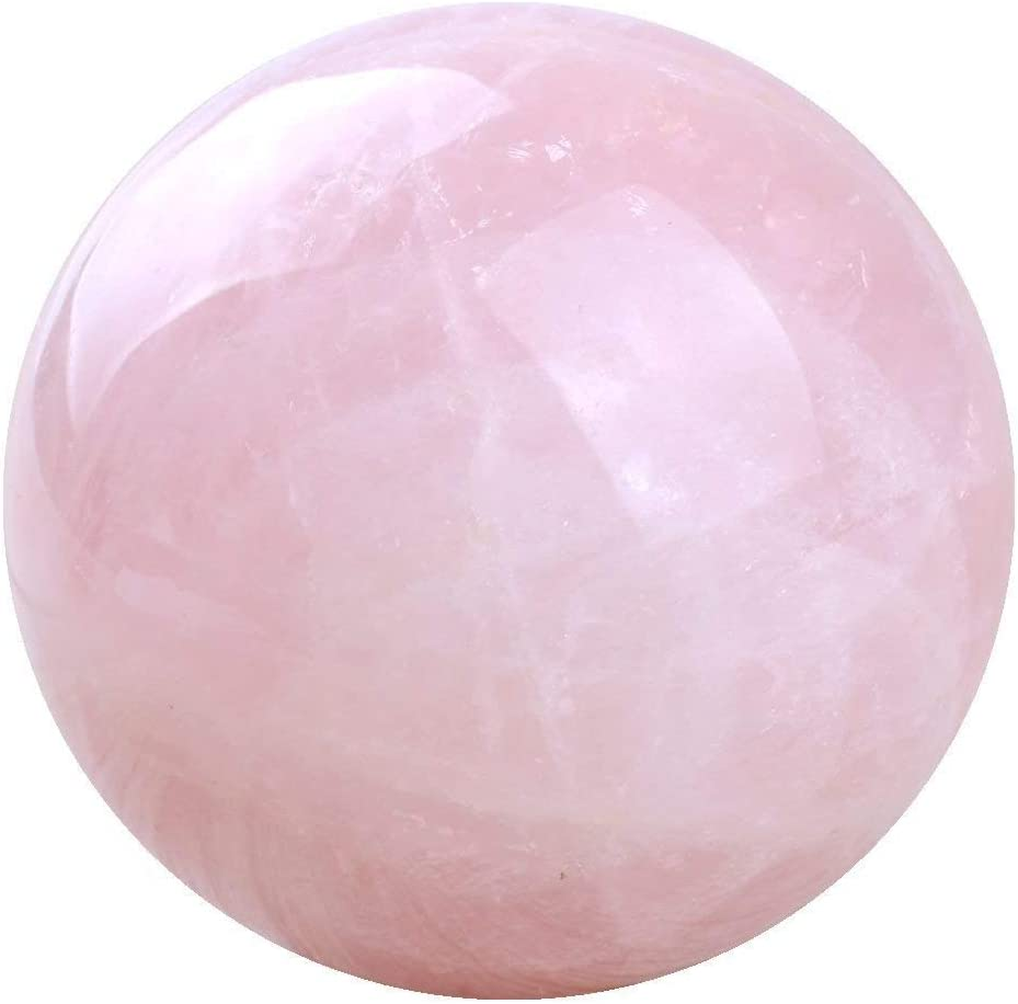 Crystal Rose Calcite - Healing Pink Calcite Sphere Stand \u2013 Pink Calcite Crystal Ball