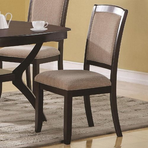 Coaster Home Furnishings 102752 Casual Side Chair, Cappuccino/Beige, Set of 2