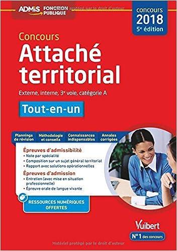 Concours Attaché territorial - Catégorie A - Tout-en-un Concours 2018