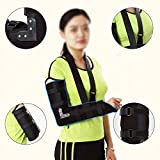 Finlon Arm Sling Elbow Shoulder Padded Support Brace Humerus Brace Splint Broken Arm Immobilizer , Medical Grade Quality , breathable, lightweight fabric, comfort fit, HELPS support & elevate arm, inj