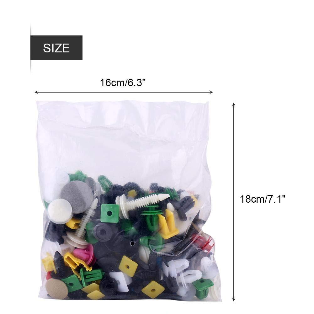 200pcs clip di fermo auto Keenso universale porta pannello di chiusura clip di fissaggio paraurti rivetto push pin kit