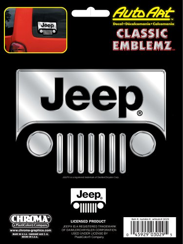 Chroma Graphics Jeep Classic Emblemz Decal ()