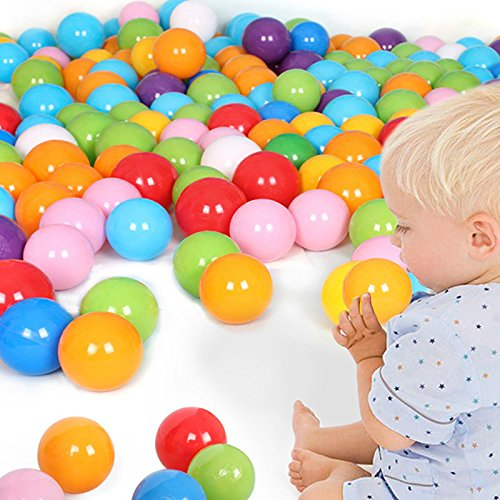 Techinal 100 Swim Fun Colorful Soft Plastic Ocean Ball Secure Baby Kid Pit Toy