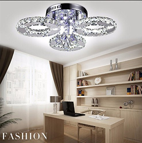 Modern Led Crystal Ceiling Lights For Living Room luminaria teto cristal Ceiling Lamps For Home Decoration (Clear D60CM 3 Ring)