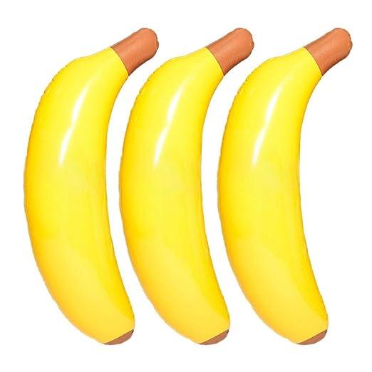 blendivt Agua Inflable Banana Flotador Fila Fruta Nadar Cama ...