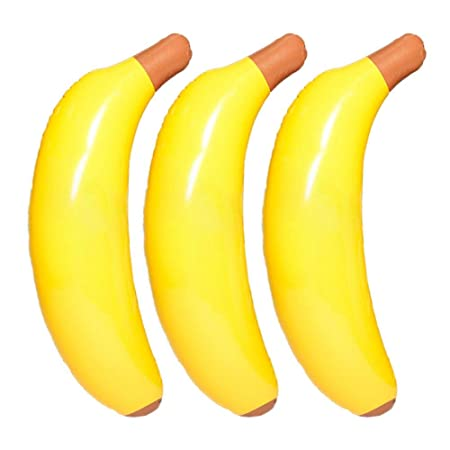Never-hu - Banana Hinchable para Nadar en la Cama Flotante ...