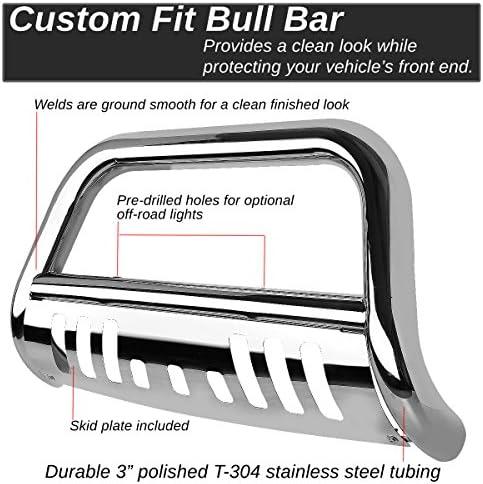 for 14-16 Highlander DNA MOTORING BURB-034-BK BURB034BK 3 Front Bumper Push Bull Bar