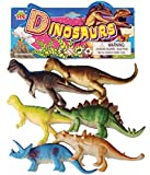 Neo Gold leaf Plastic Reptiles Animal Dinosaur Model Toy 6pcs Multi-color